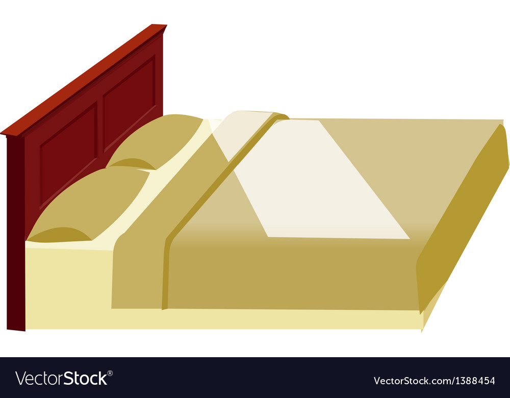 A view of a bed vector | Price: 1 Credit (USD $1)