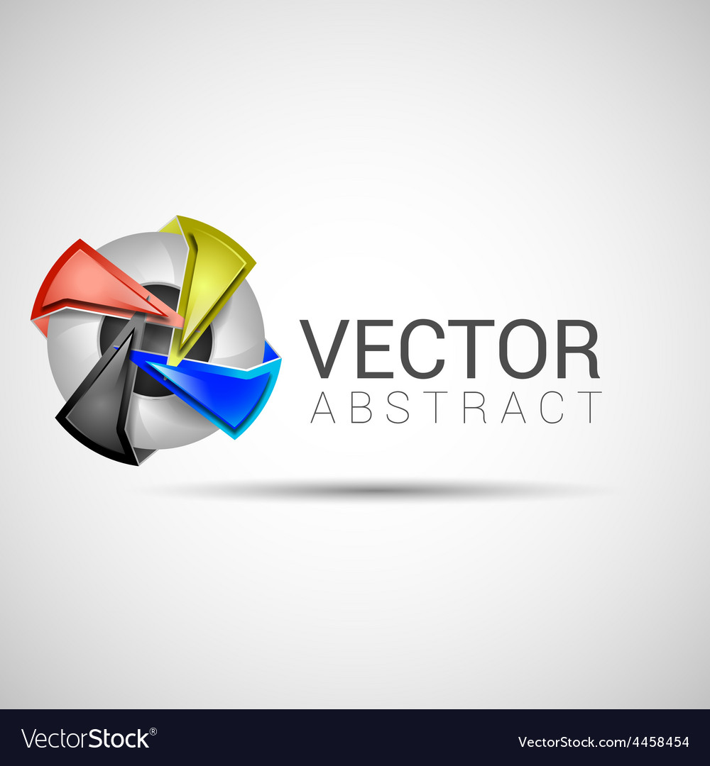 Abstract shape eps10 design color abstract icon vector | Price: 1 Credit (USD $1)