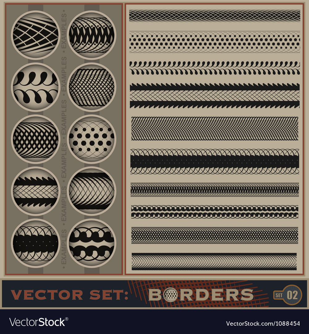 Boarder set vector | Price: 1 Credit (USD $1)