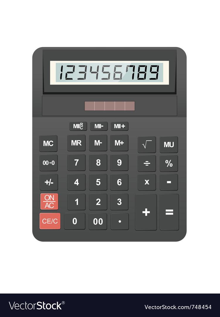 Calculator object vector | Price: 1 Credit (USD $1)