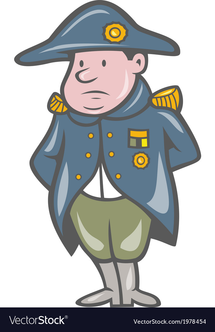 French military general cartoon vector | Price: 1 Credit (USD $1)