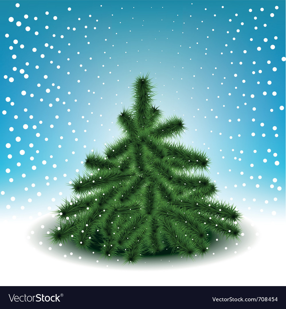 Little fluffy christmas tree vector | Price: 1 Credit (USD $1)
