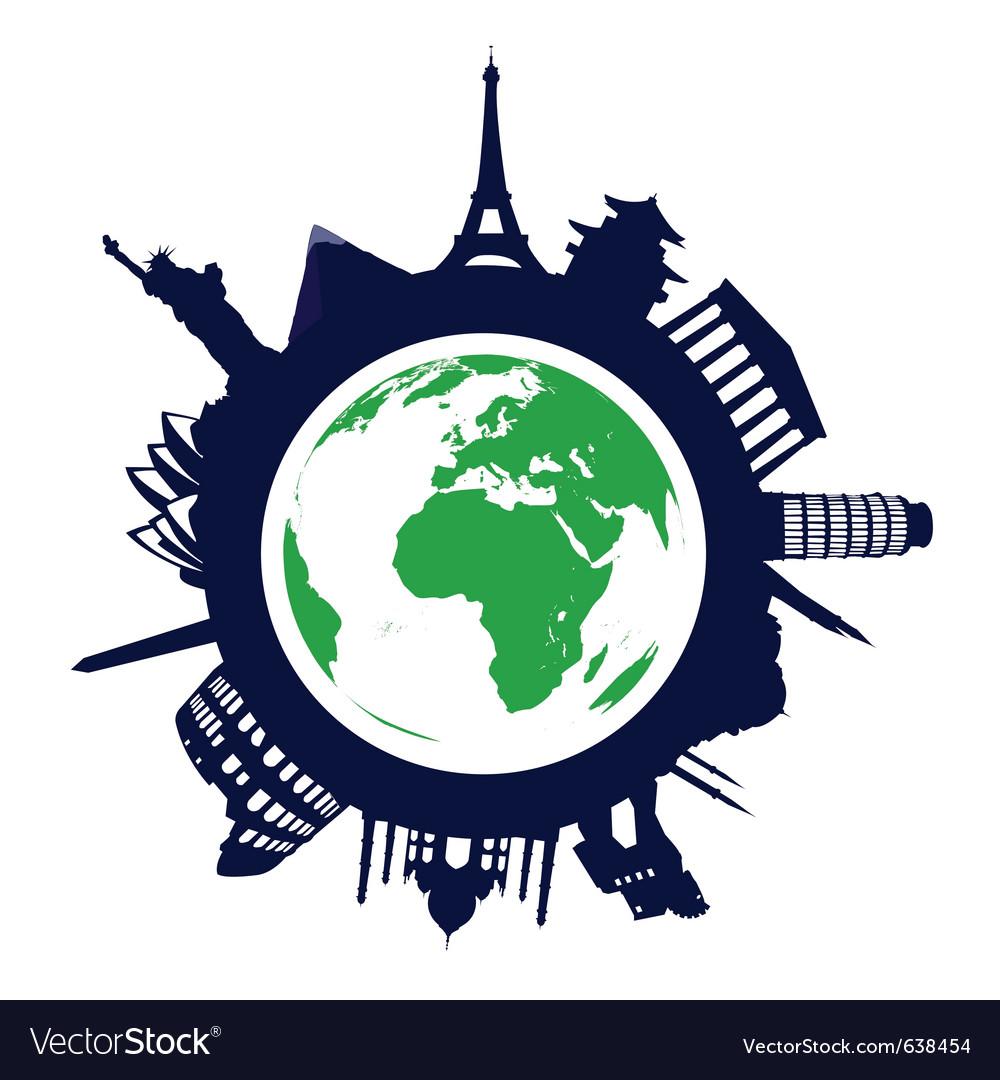 World landmarks vector   Price: 1 Credit (USD $1)