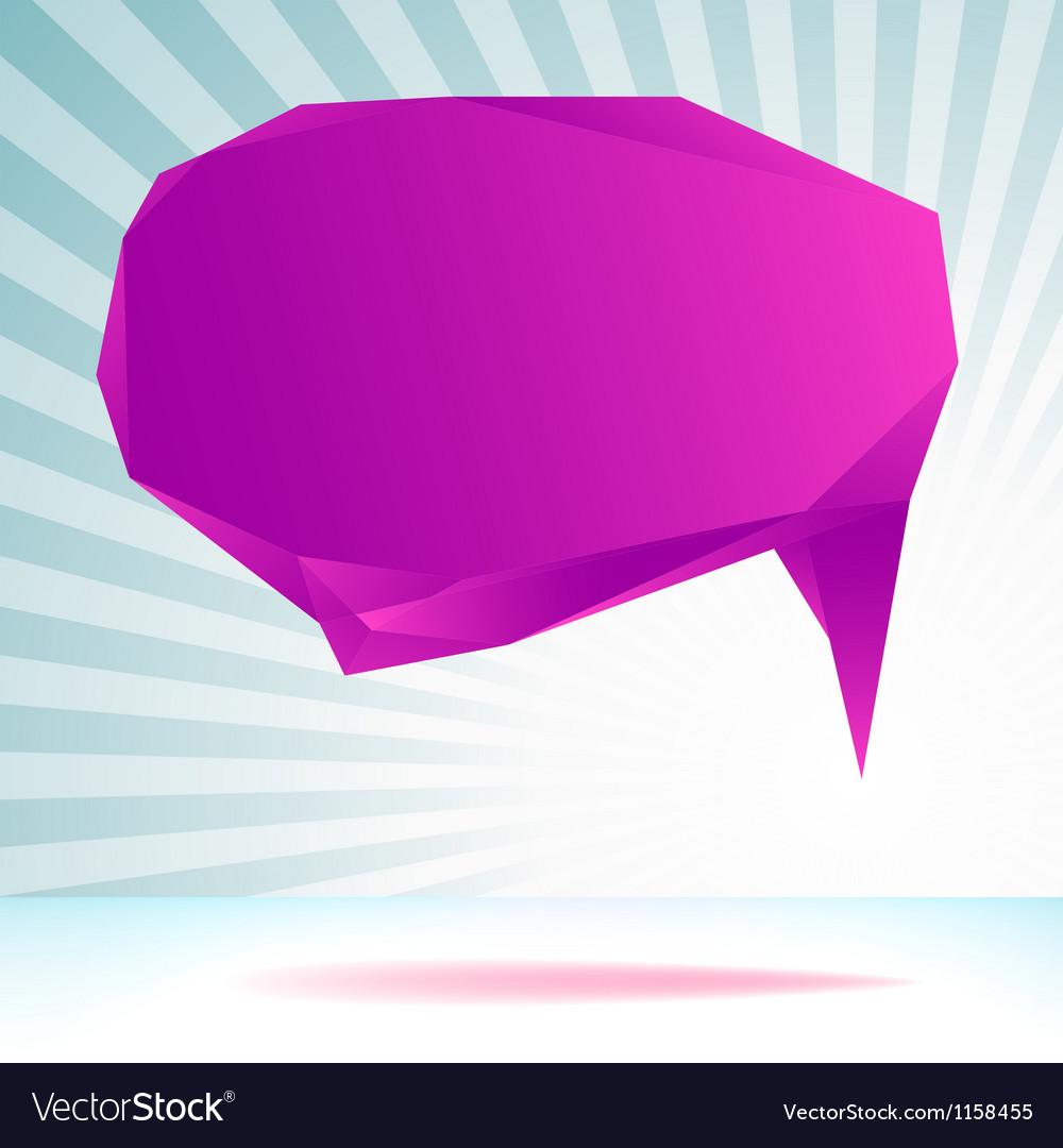 Abstract origami speech bubble template  eps8 vector | Price: 1 Credit (USD $1)