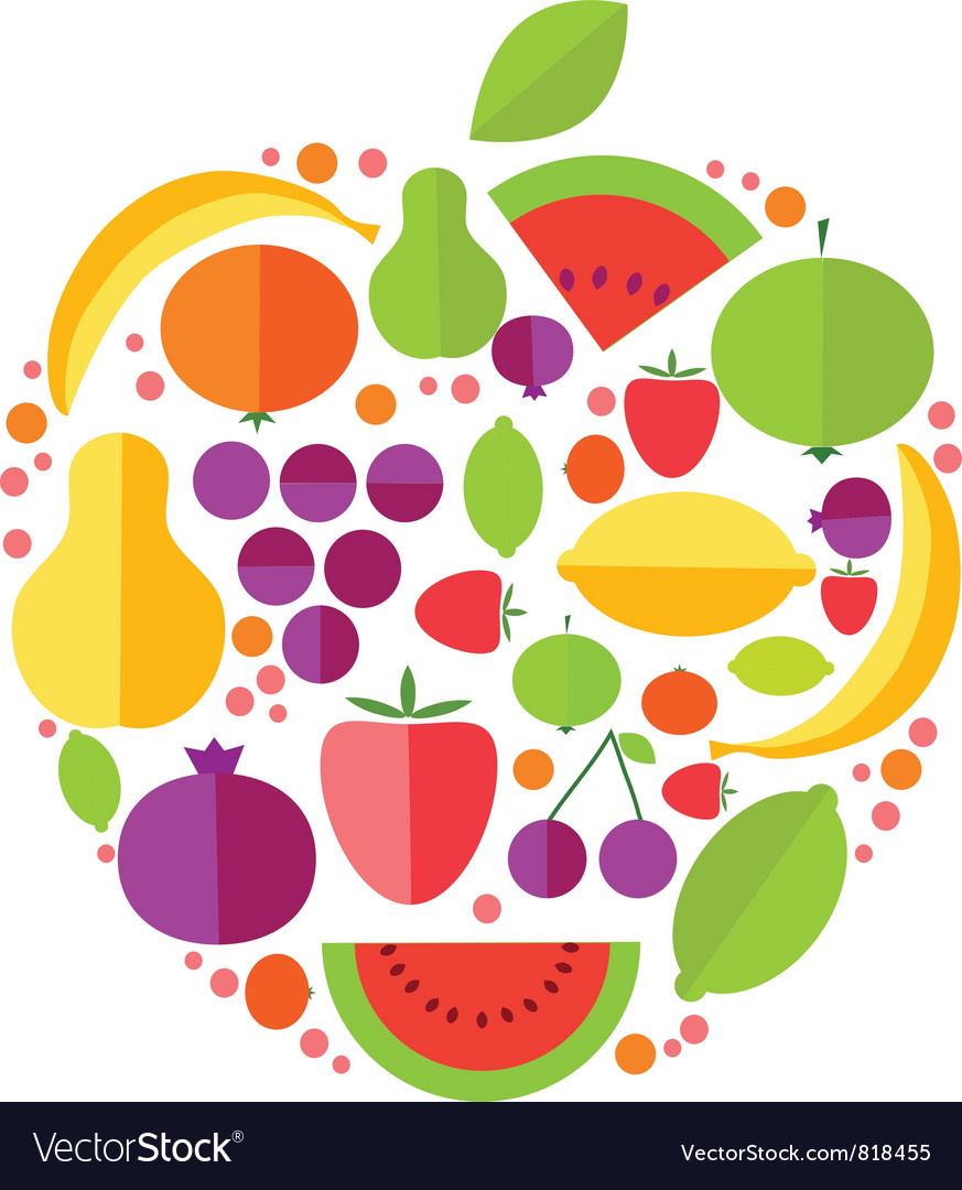 Apple fruit icons vector | Price: 1 Credit (USD $1)