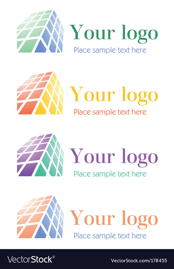 Architectural corporate logos set vector | Price: 1 Credit (USD $1)