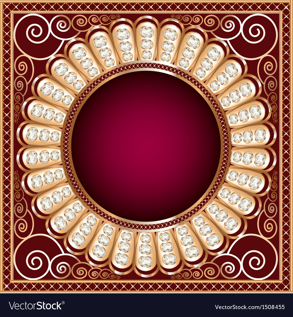 Background with precious stones gold pattern vector | Price: 1 Credit (USD $1)