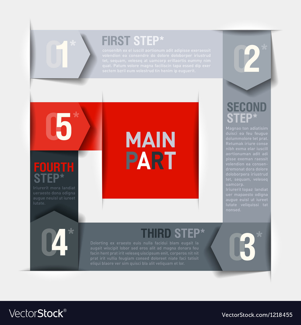 Consecutive steps design template vector | Price: 1 Credit (USD $1)