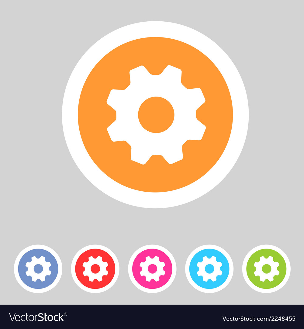 Flat game graphics icon settings vector | Price: 1 Credit (USD $1)