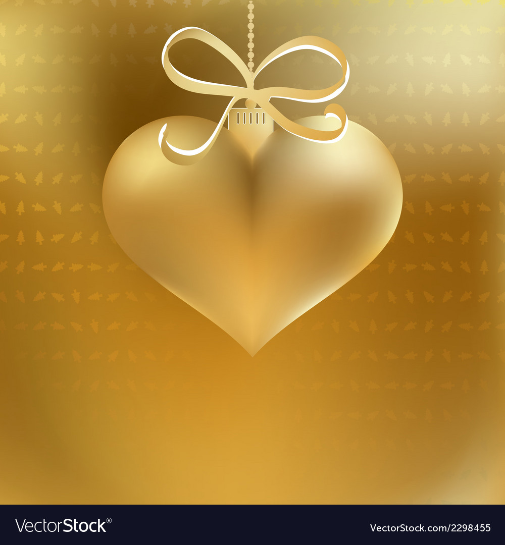 Golden christmas heart decoration  eps8 vector | Price: 1 Credit (USD $1)