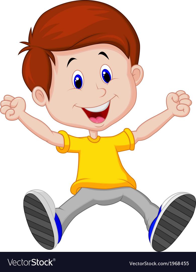 Happy boy cartoon vector   Price: 1 Credit (USD $1)