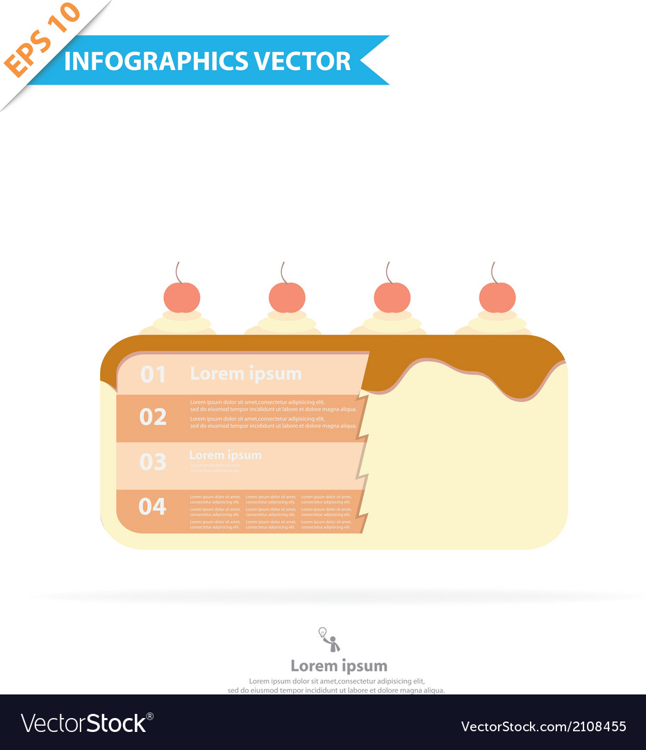 Layer cake infographics vector | Price: 1 Credit (USD $1)