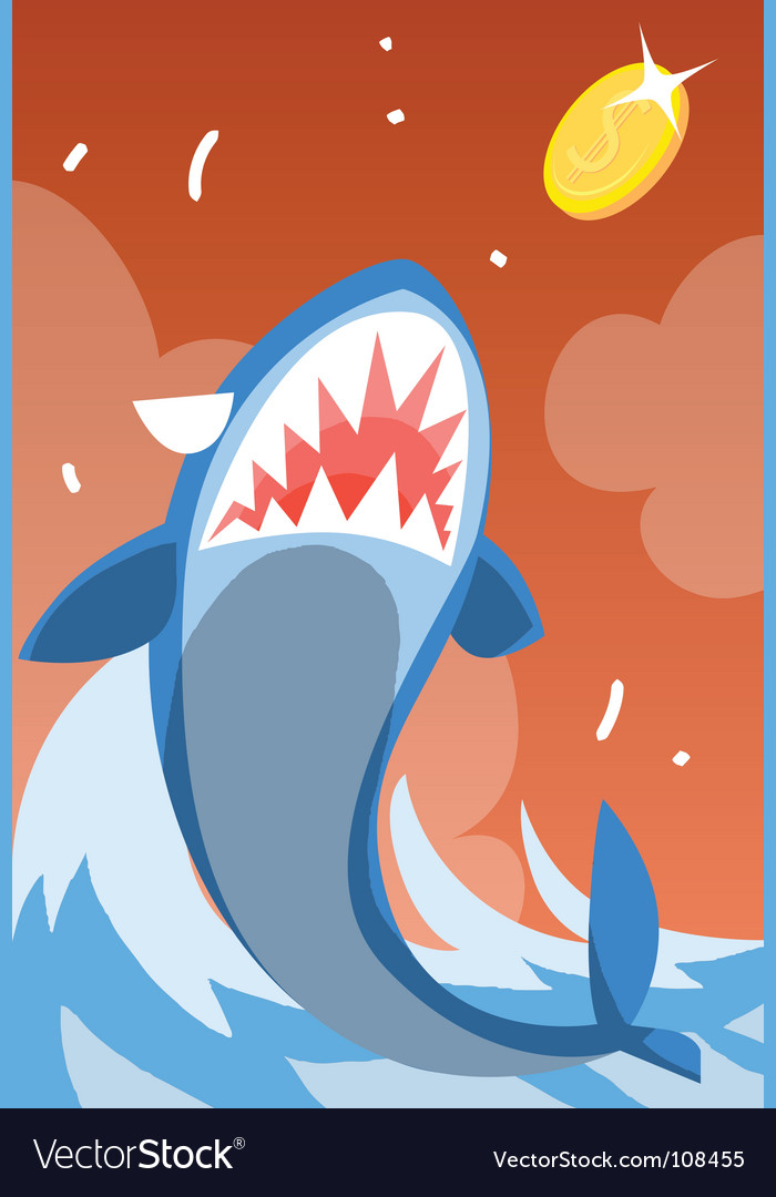 Shark-eat-coin vector | Price: 1 Credit (USD $1)