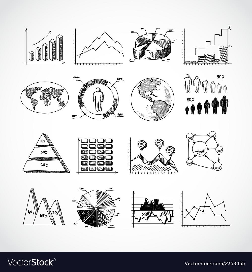 Sketch diagrams set vector | Price: 1 Credit (USD $1)