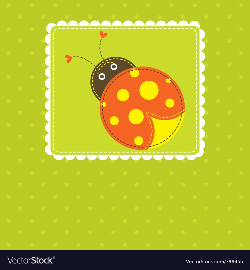 Template greeting card scrap vector | Price: 1 Credit (USD $1)