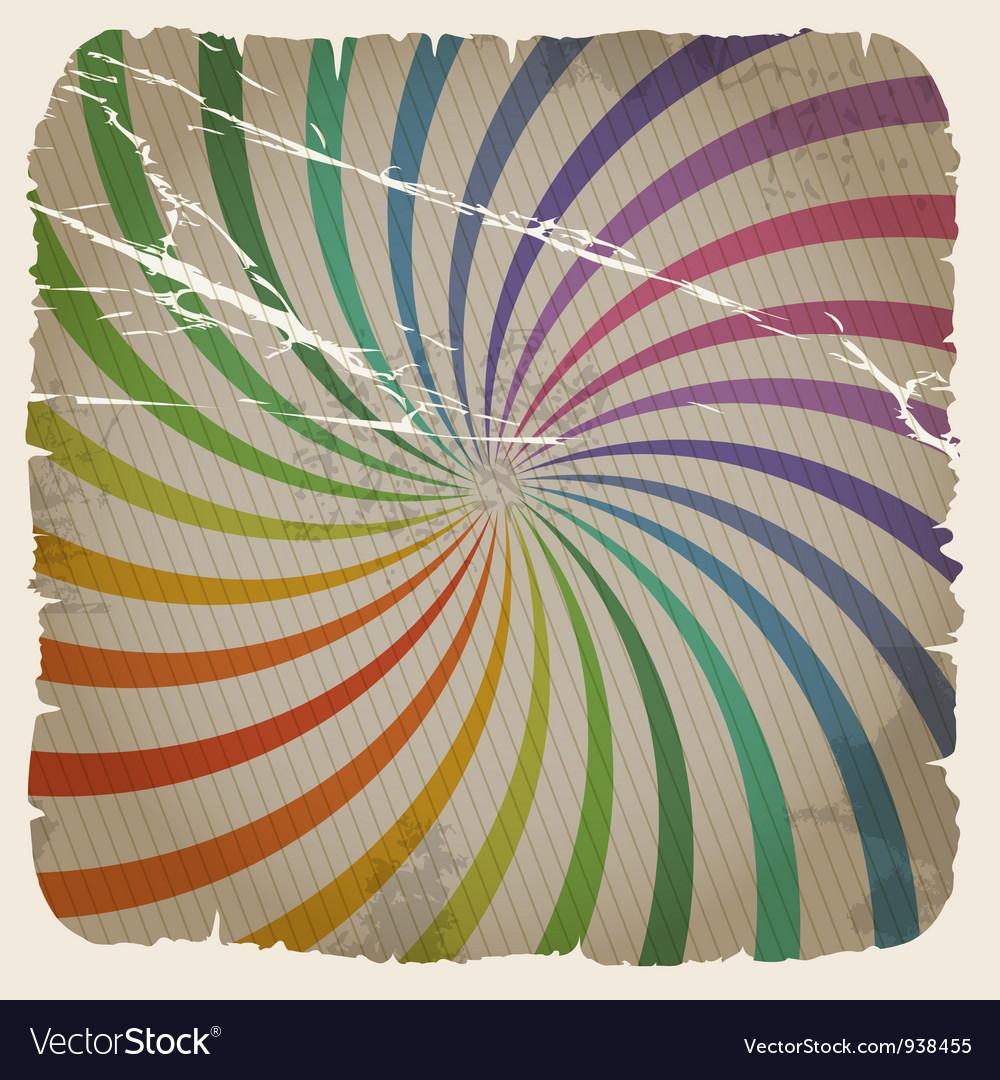 Vintage spiral background vector | Price: 1 Credit (USD $1)
