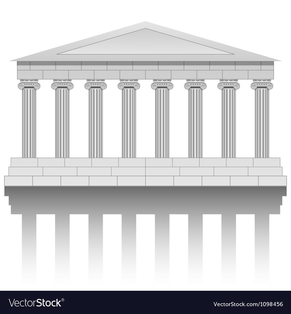 Ancient temple vector | Price: 1 Credit (USD $1)