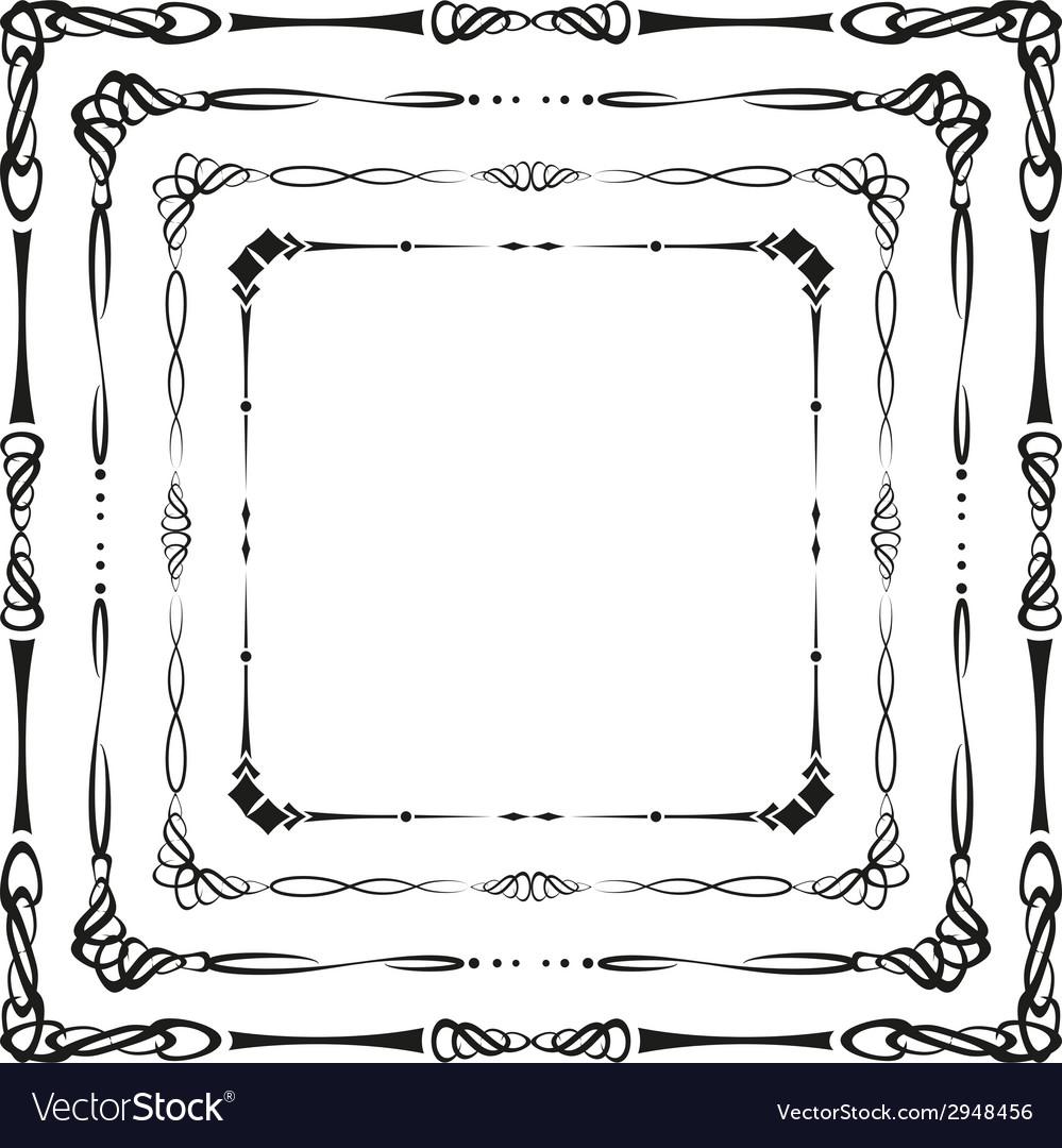 Calligraphic frames vector | Price: 1 Credit (USD $1)