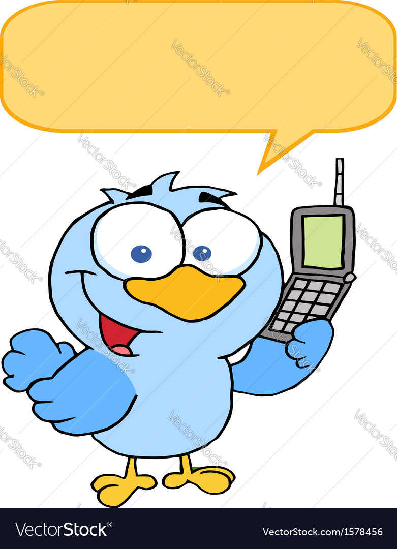 Calling bird cartoon vector | Price: 1 Credit (USD $1)