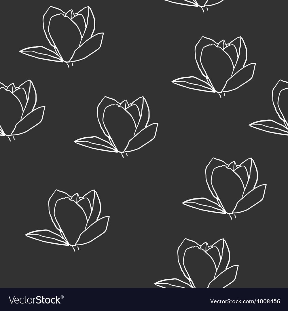 Magnolia seamless pattern vector | Price: 1 Credit (USD $1)