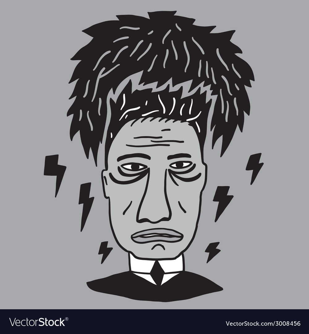 Mans stress fatigue vector | Price: 1 Credit (USD $1)