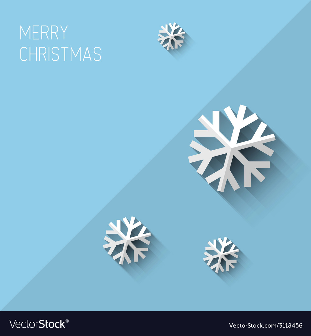 Modern christmas card with flat design vector | Price: 1 Credit (USD $1)