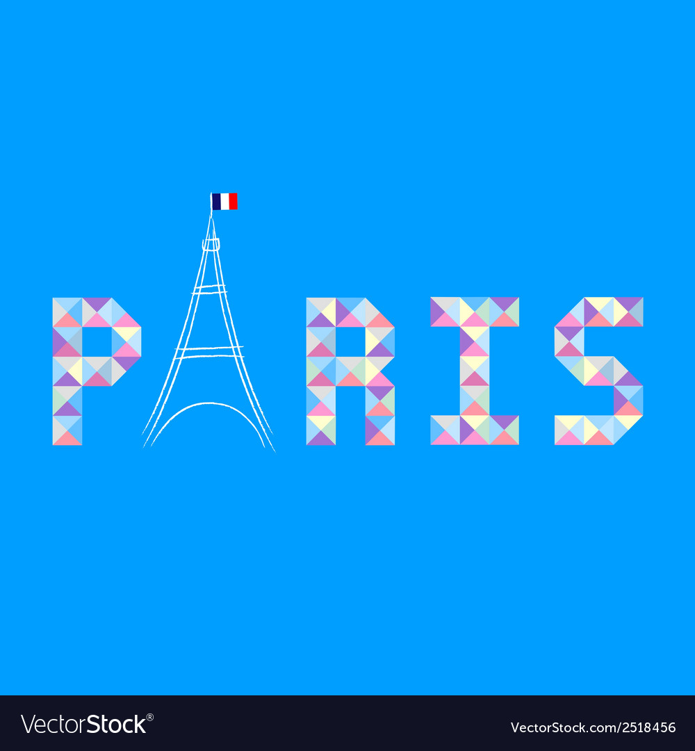 Paris letter card1 vector | Price: 1 Credit (USD $1)
