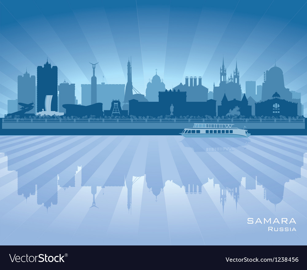 Samara russia skyline city silhouette vector   Price: 1 Credit (USD $1)