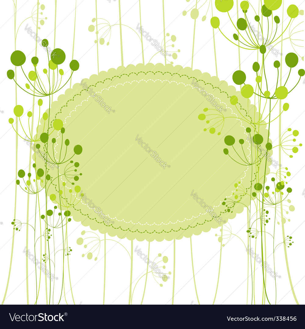 Springtime green dandelion vector | Price: 1 Credit (USD $1)