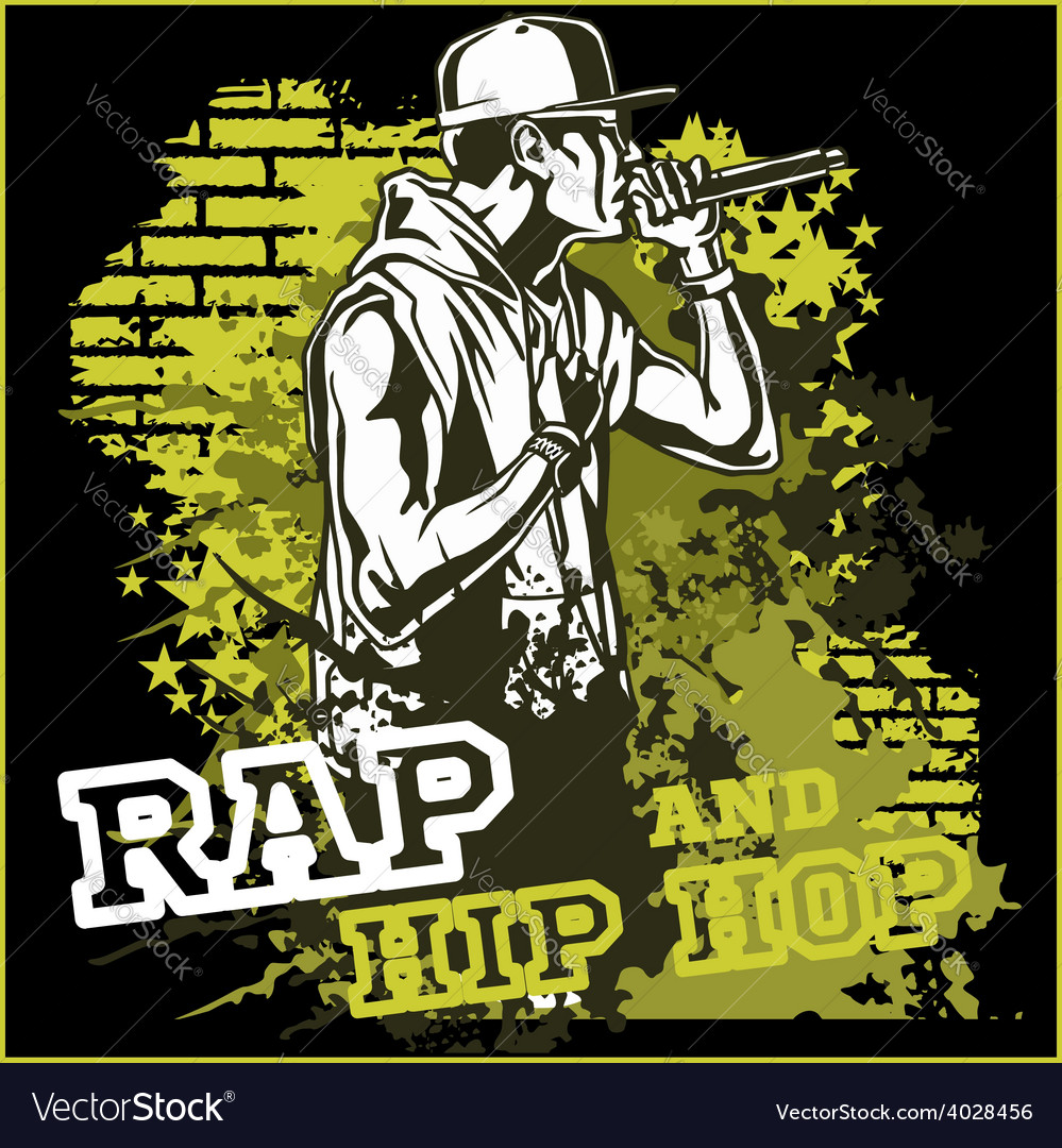 Urban rapper - hip hop vector | Price: 3 Credit (USD $3)