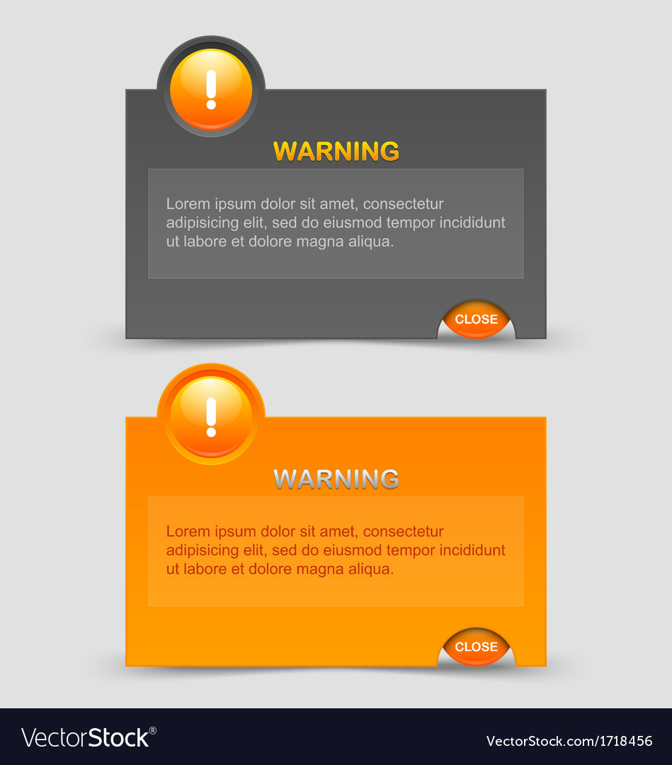 Warning notification windows vector | Price: 1 Credit (USD $1)