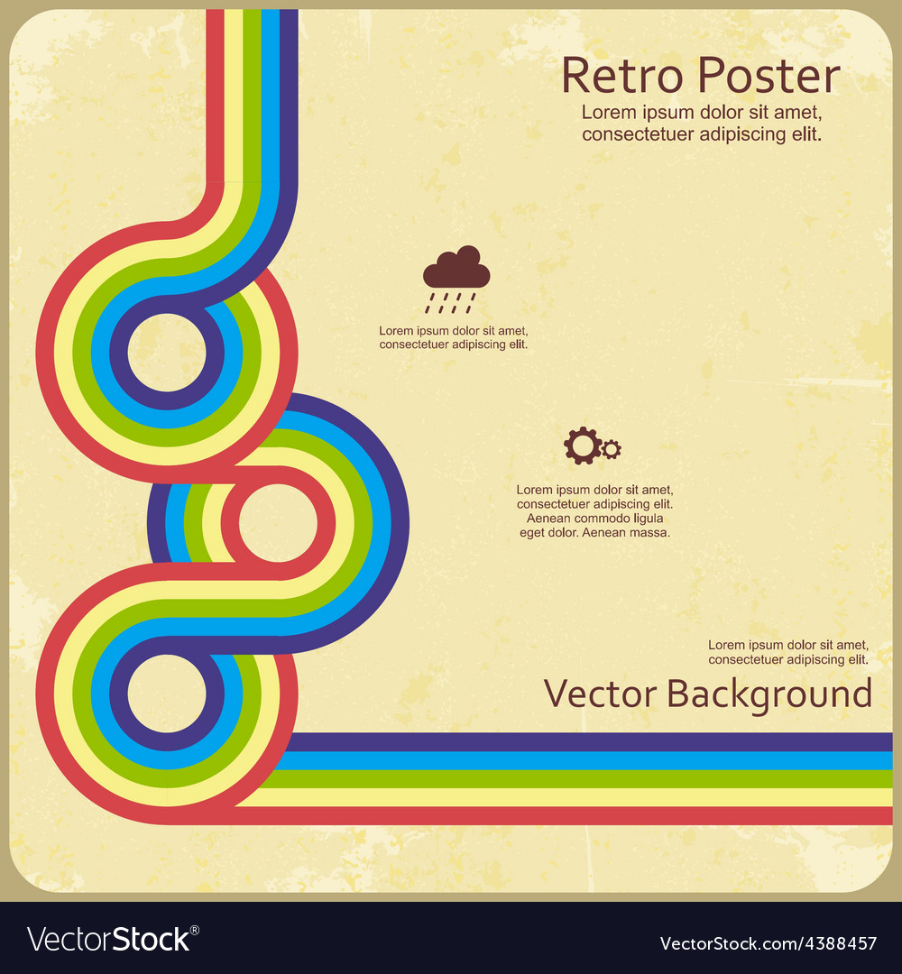 Abstract retro lines background vector | Price: 1 Credit (USD $1)