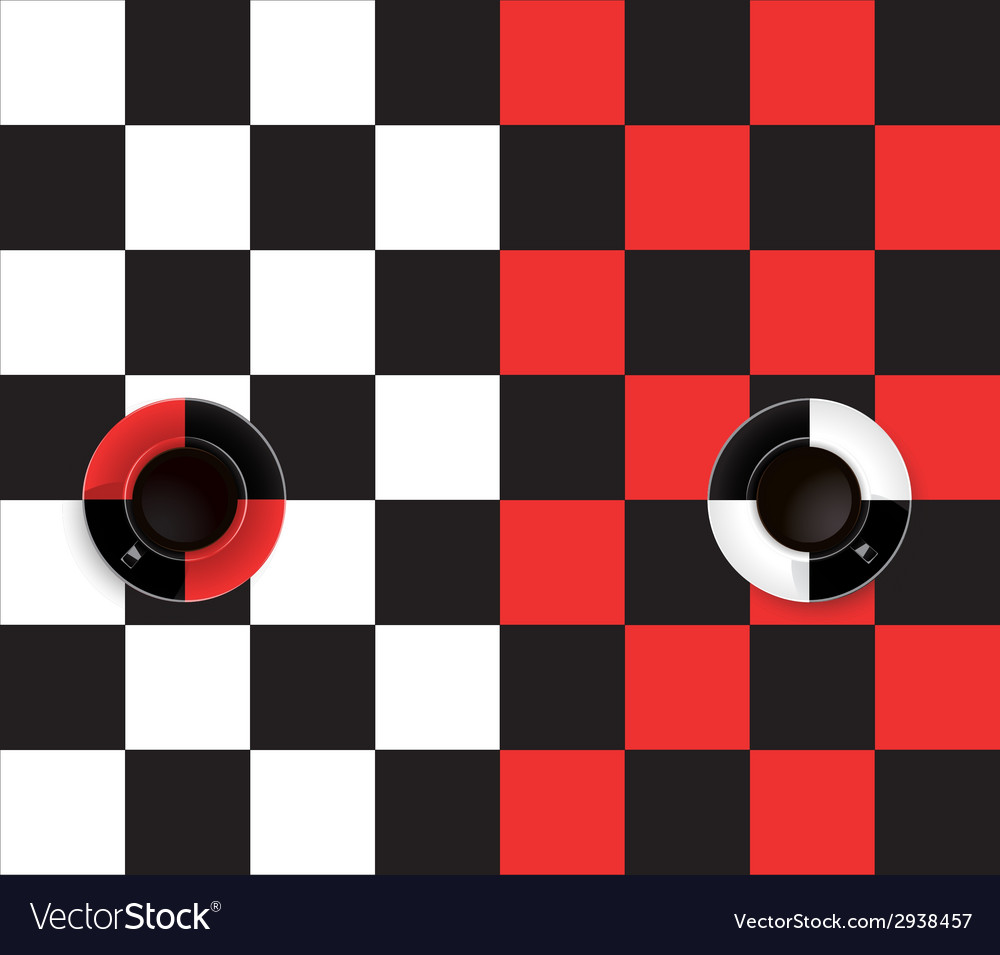 Black and red and white and black coffee cup vector | Price: 1 Credit (USD $1)