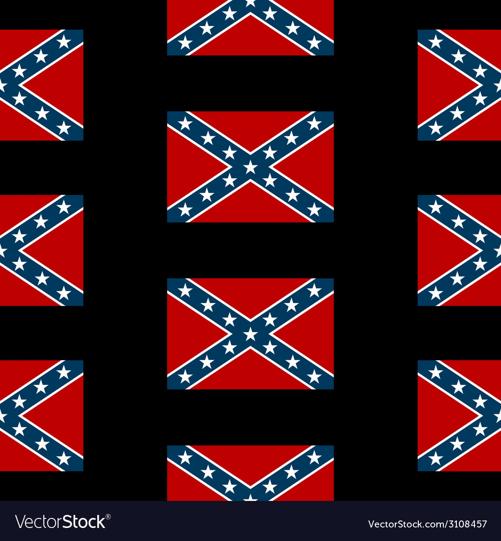 Confederate states of america seamless pattern vector | Price: 1 Credit (USD $1)