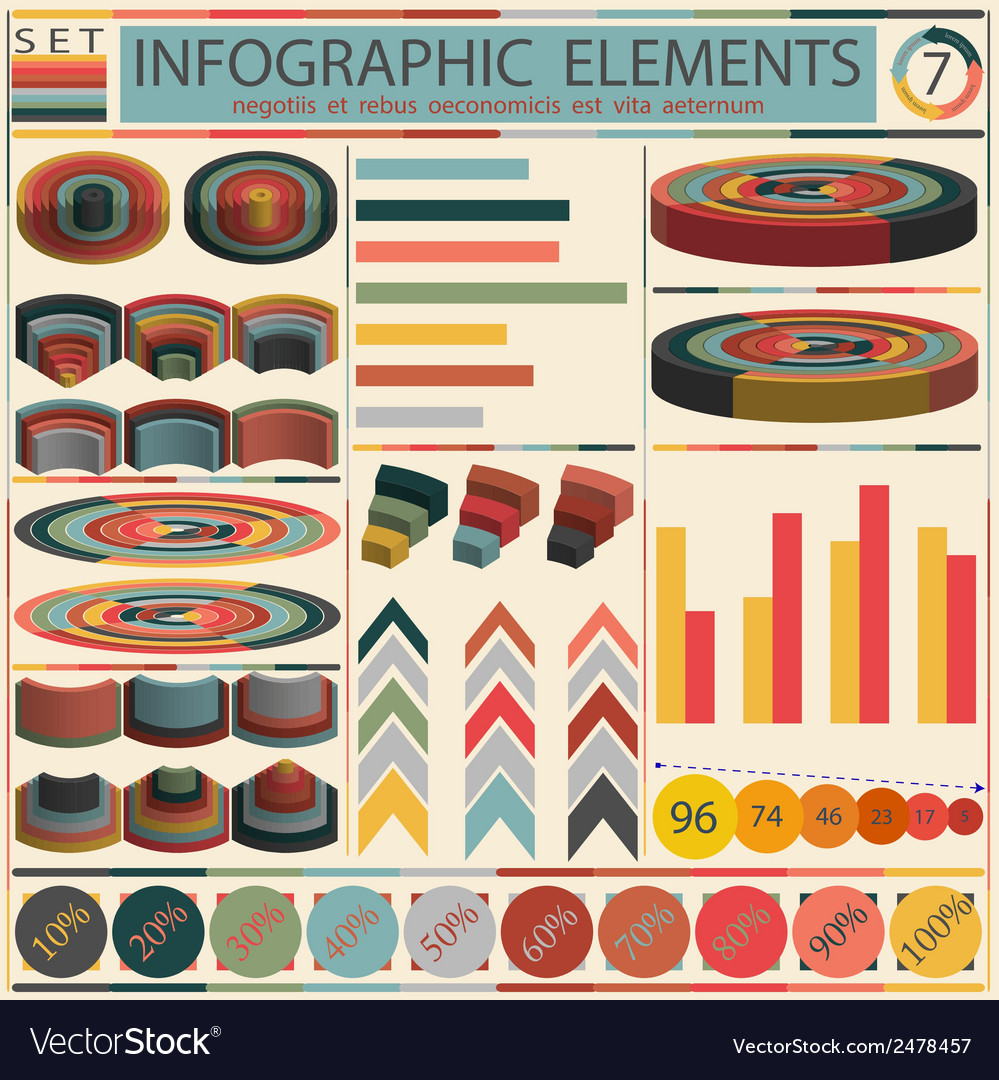Detail infographic - retro style design vector | Price: 1 Credit (USD $1)