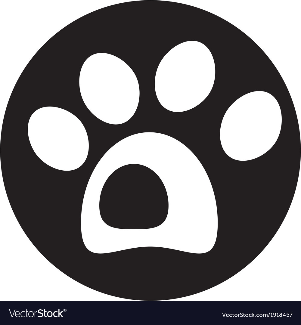 Dog paw icon vector | Price: 1 Credit (USD $1)