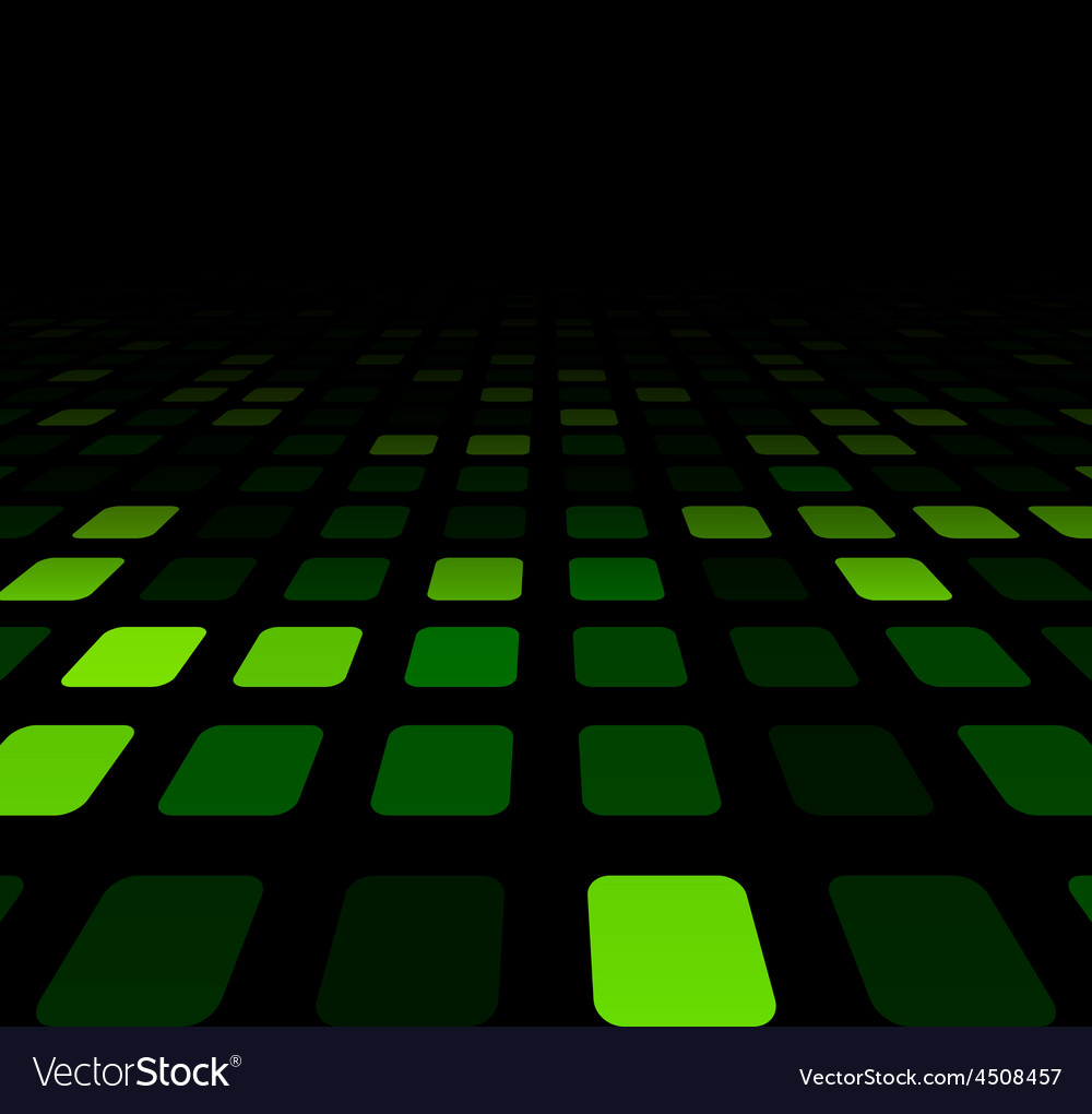 Green squares technology pattern vector | Price: 1 Credit (USD $1)