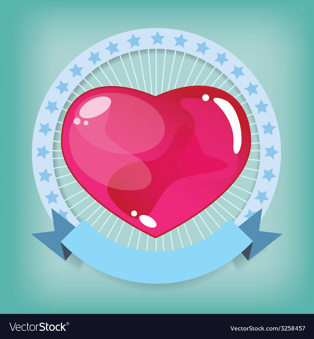 Heart jelly shape vector | Price: 1 Credit (USD $1)