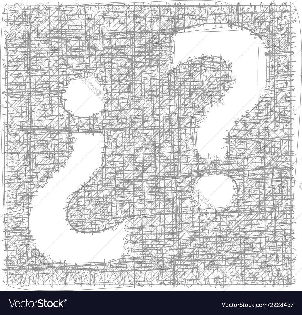 Question mark - freehand symbol vector | Price: 1 Credit (USD $1)