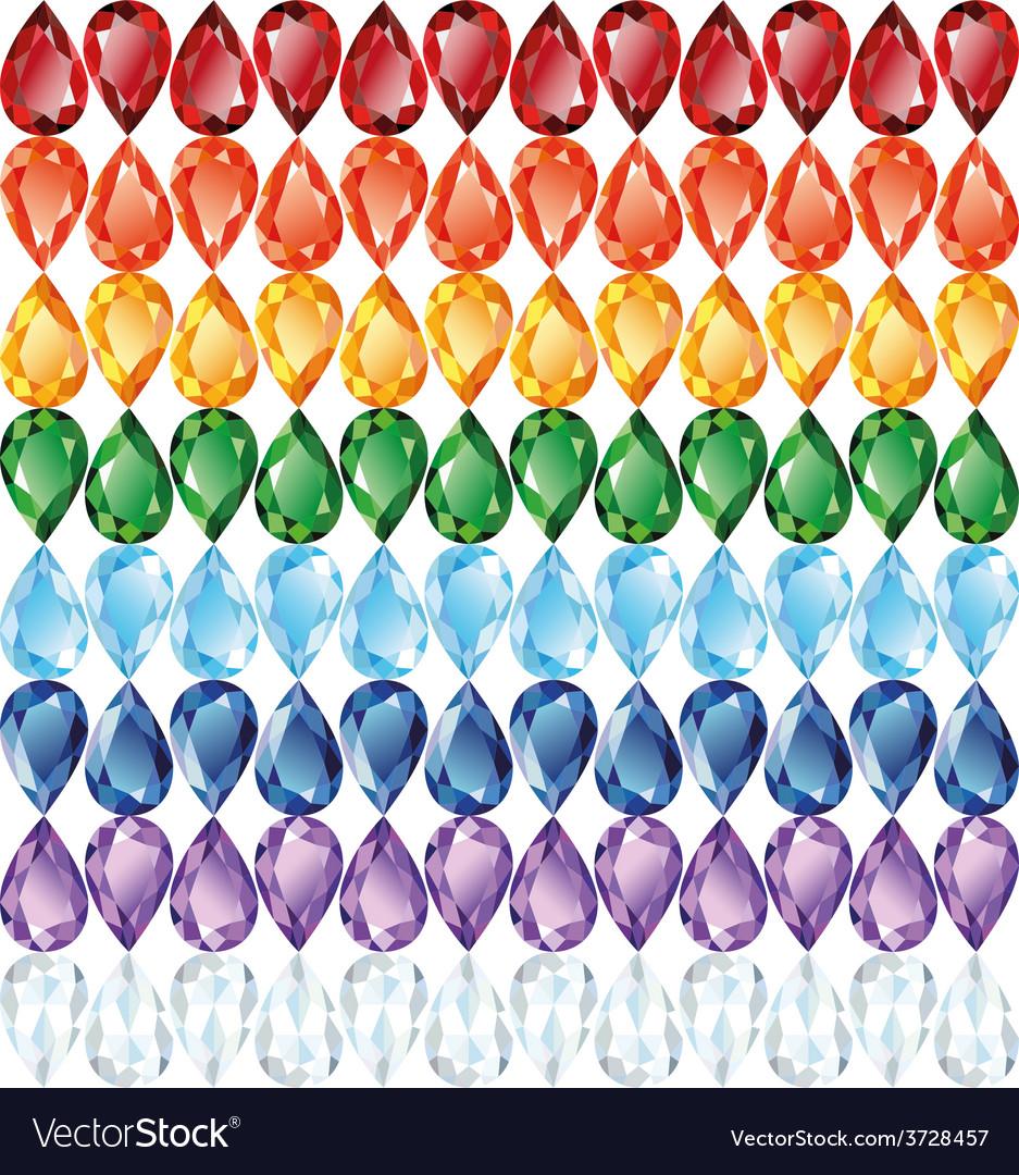 Rainbow of jewelry seamless texture vector   Price: 1 Credit (USD $1)