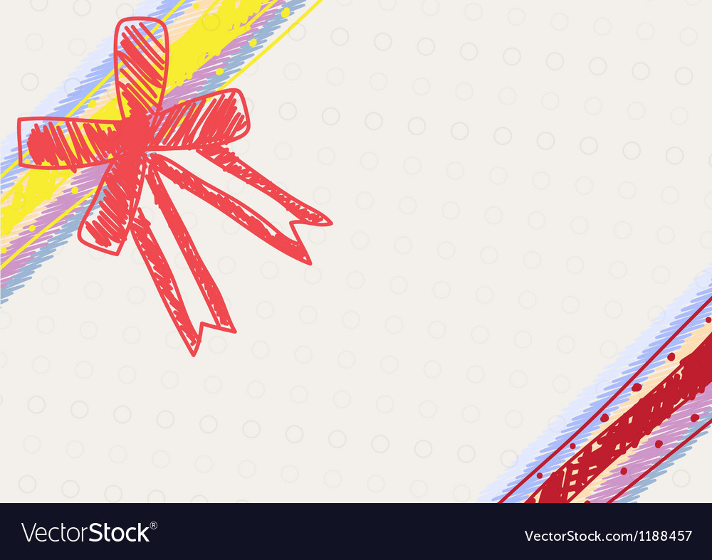 Sketch drawing ribbon decoration vector | Price: 1 Credit (USD $1)