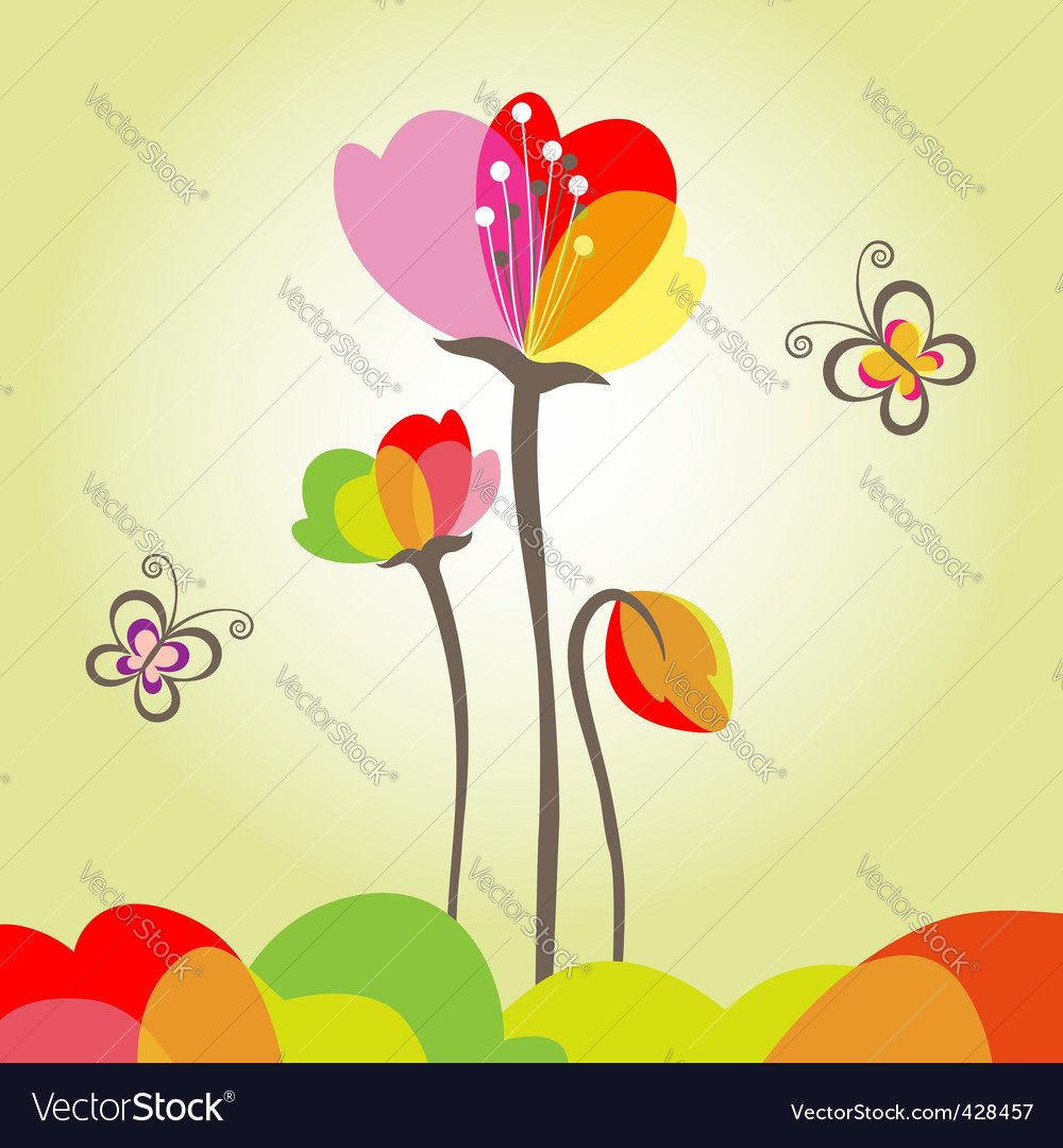 Springtime colorful flower vector | Price: 1 Credit (USD $1)