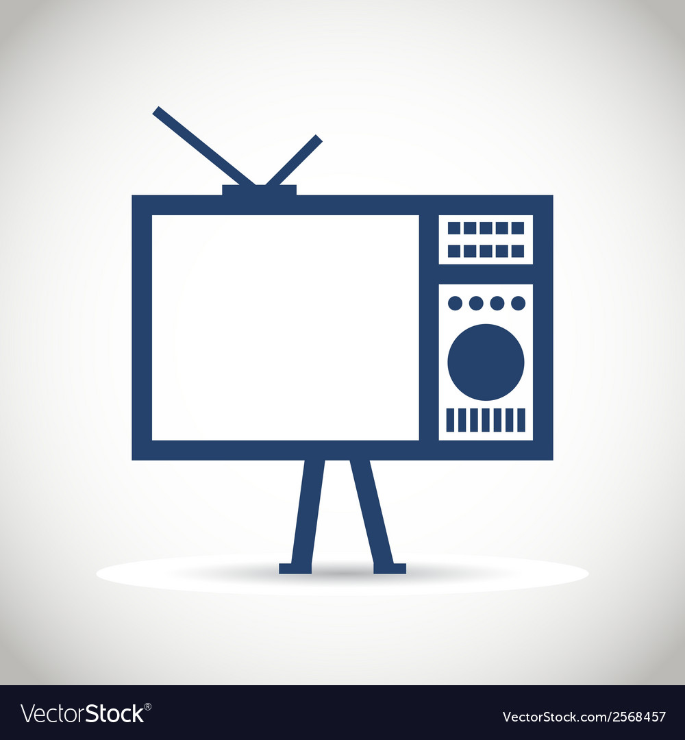 Tv icon vector | Price: 1 Credit (USD $1)