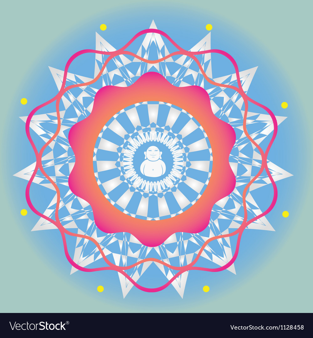 Budda ornamental print vector | Price: 1 Credit (USD $1)