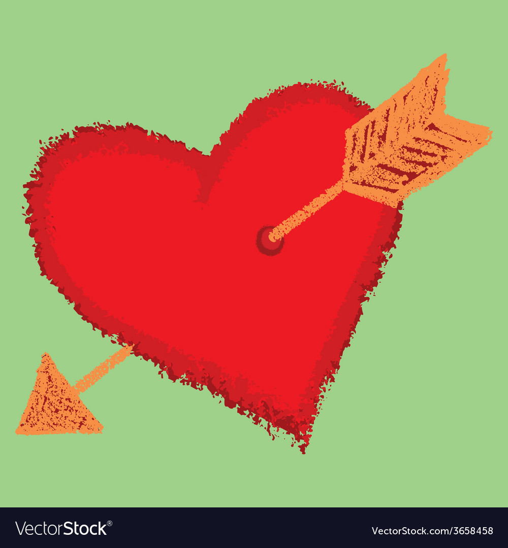 Heart with an arrow vector   Price: 1 Credit (USD $1)