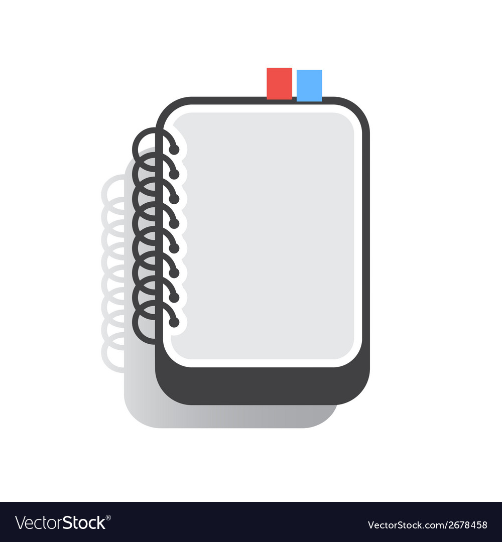 Notebook flat vector | Price: 1 Credit (USD $1)