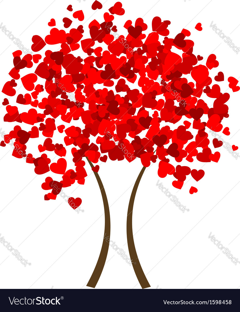 Valentine heart tree vector | Price: 1 Credit (USD $1)