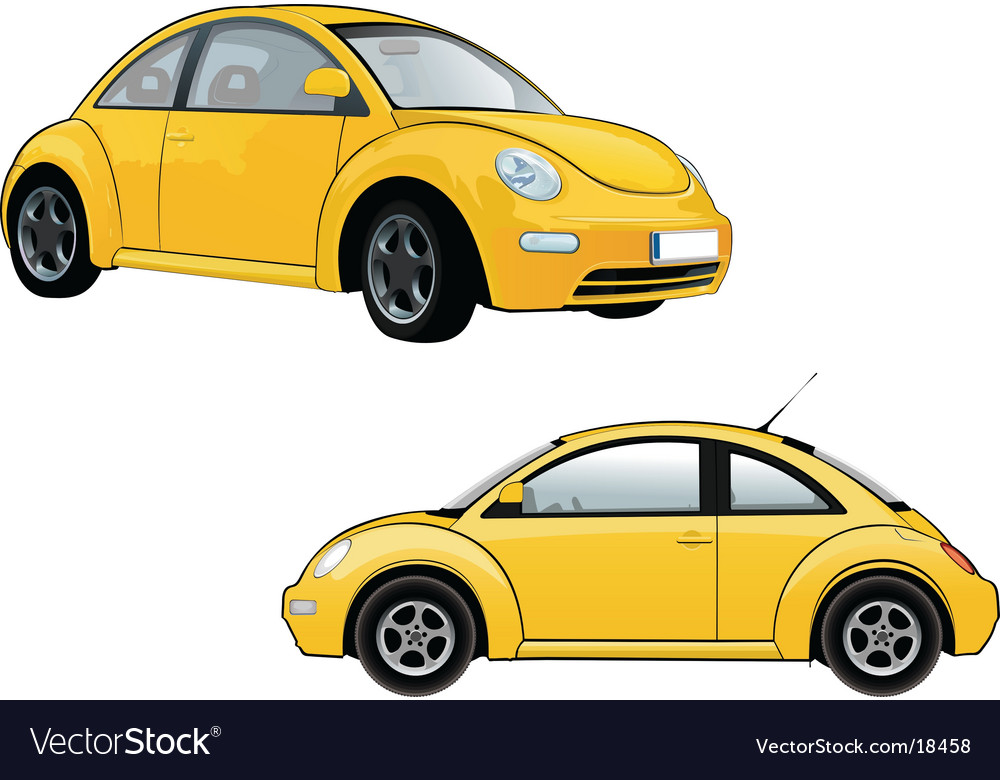 Volkswagen new beetle vector | Price: 3 Credit (USD $3)