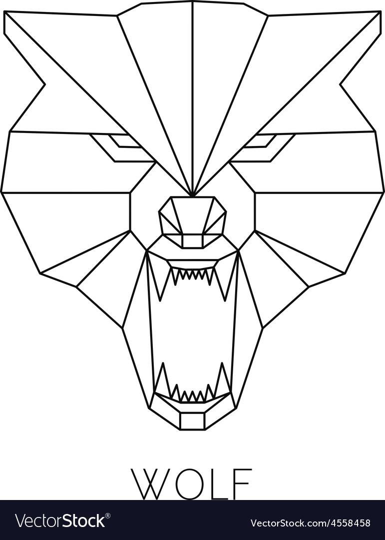 Wolf head geometric style print t-shirt vector   Price: 1 Credit (USD $1)
