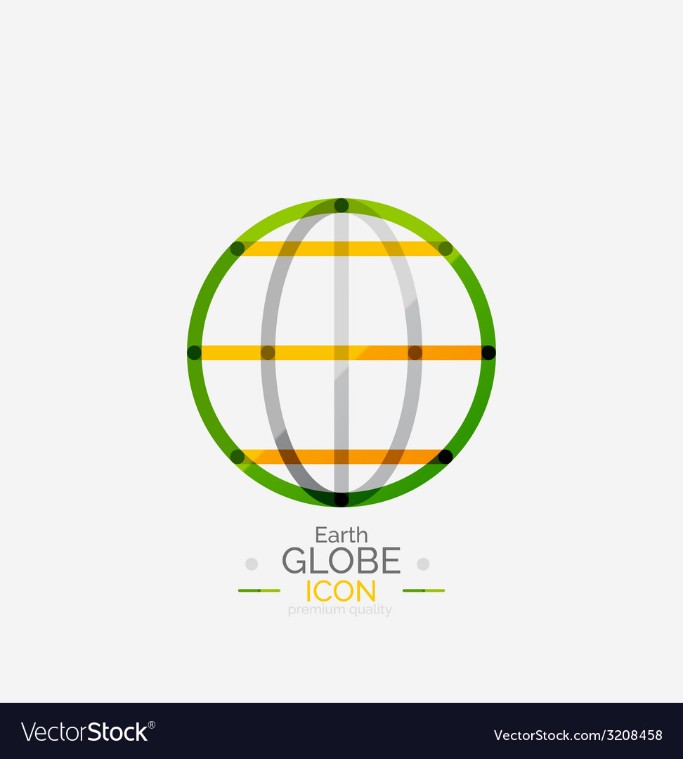 World globe logo stamp vector | Price: 1 Credit (USD $1)